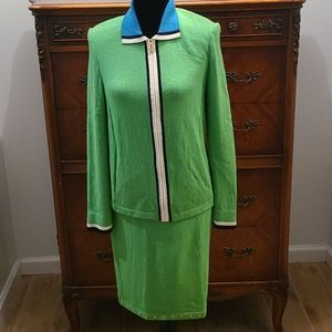 St John Sport 2pc Green Suit